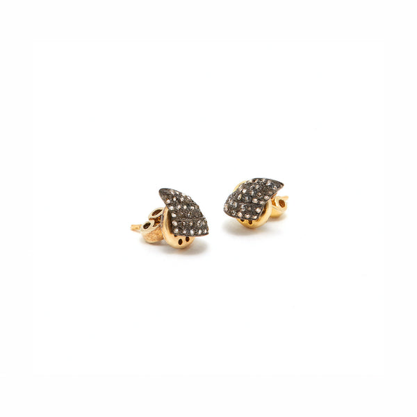 Black Diamond Thorn Lab Flat Earrings