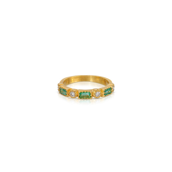 Emerald Diamond Demi Link Band