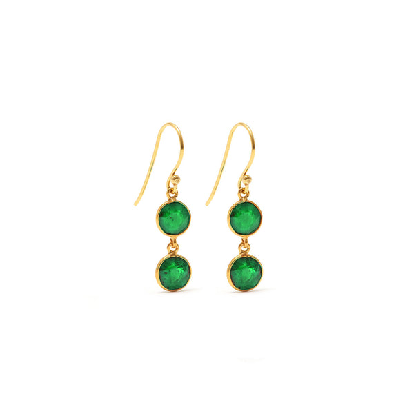 Emerald Envy Two Earrings