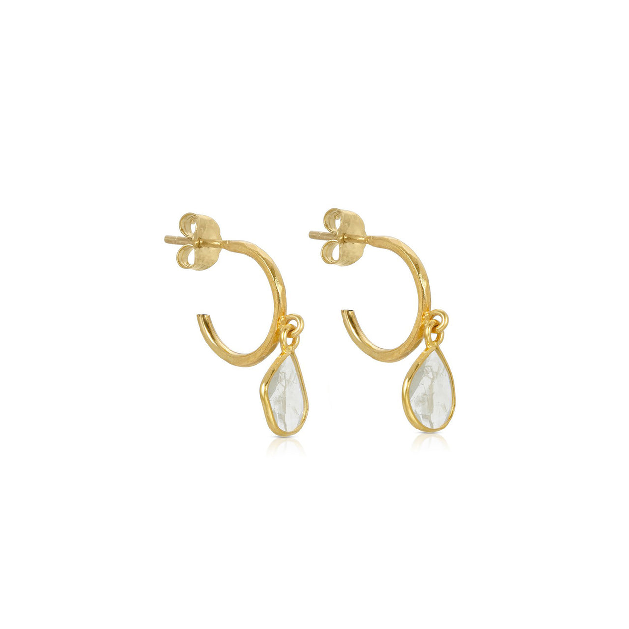 Petit Ethereal Ice Diamond Hoop Earrings