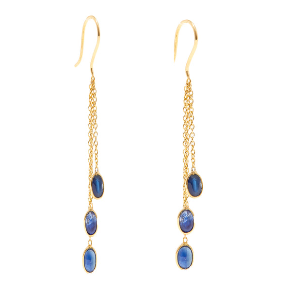 Sapphire Cascade Chain Earrings