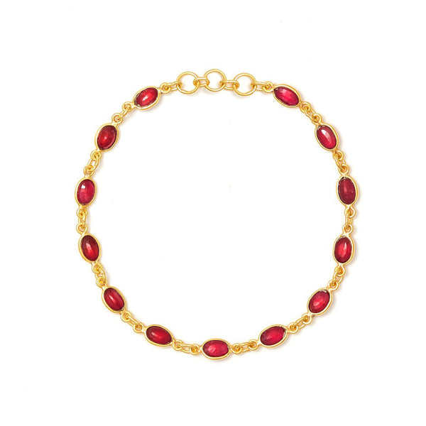 Ruby Rush Chain Bracelet
