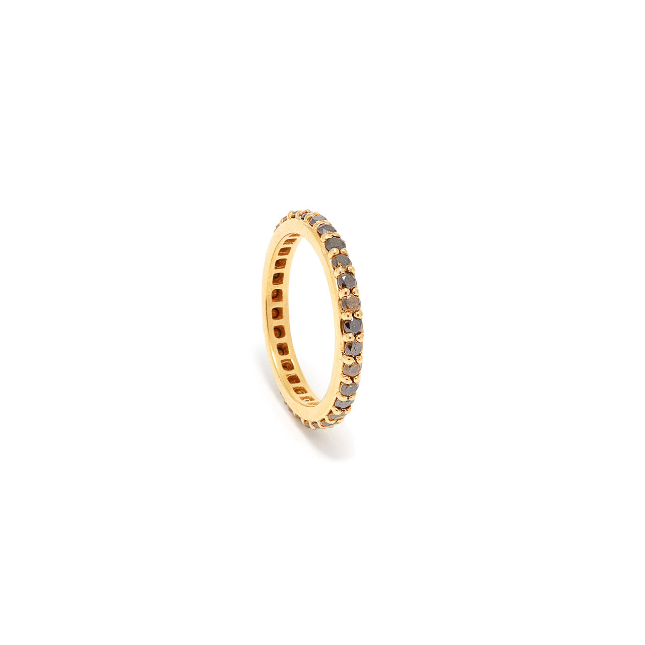 Black Diamond Eternity Band-Ring-Jaipur Atelier