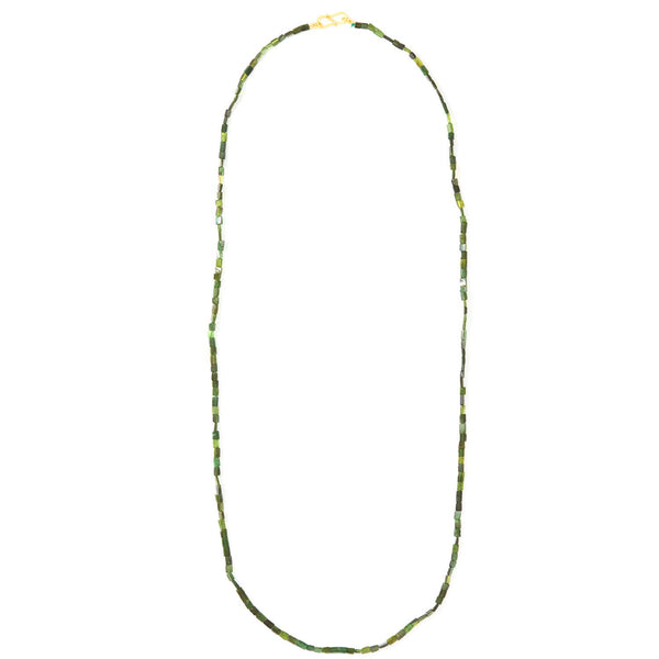 Hunter Green Tourmaline Necklace