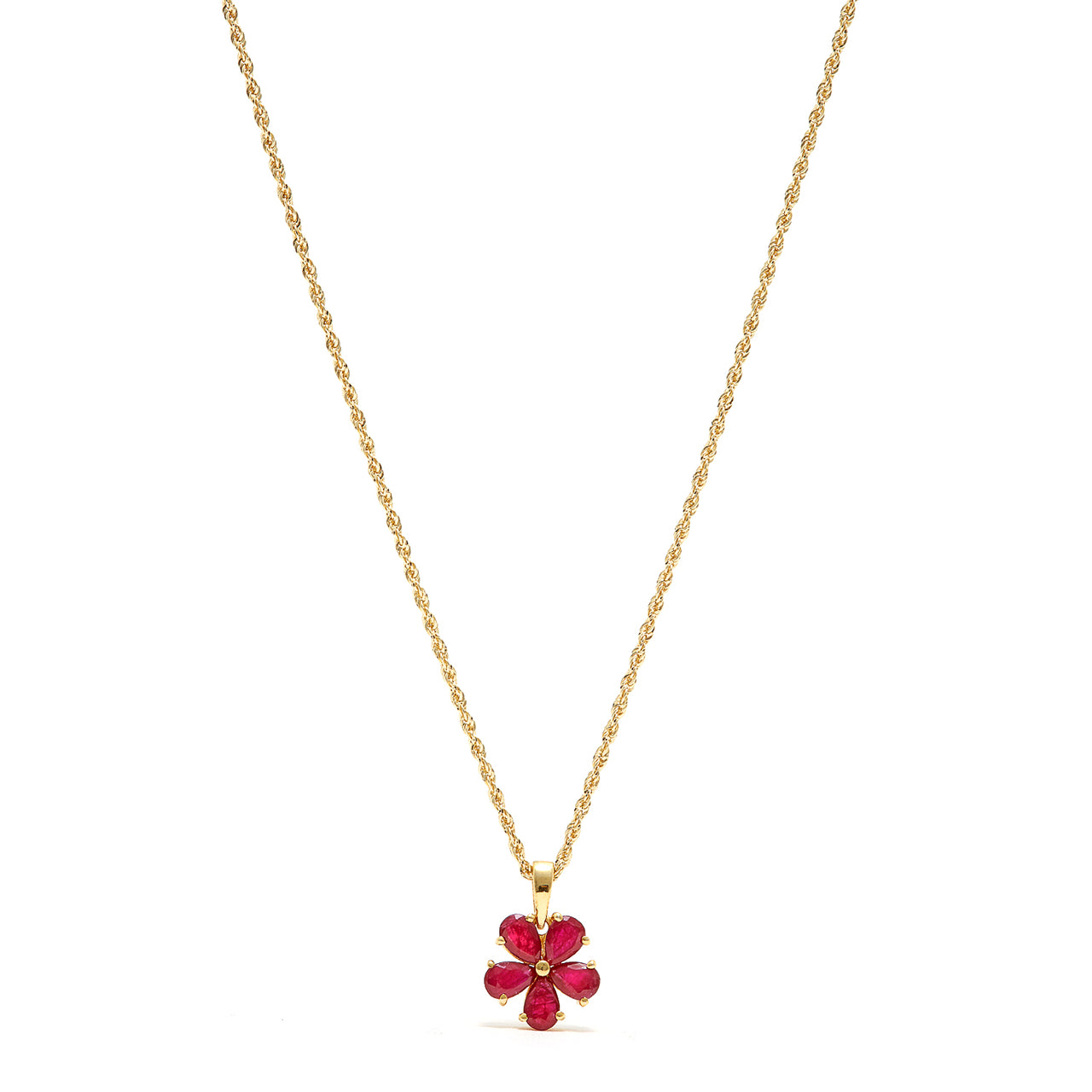 Petit Jai Ruby Flower Necklace