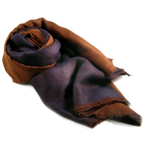 Reversible Baby Cashmere Scarf in Indian Silk Bag