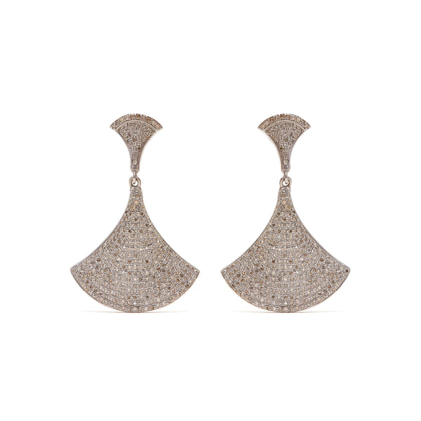 Jaipur Atelier White Diamond Bell Earrings