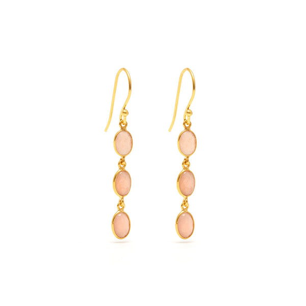 Moon Blush Three Earrings