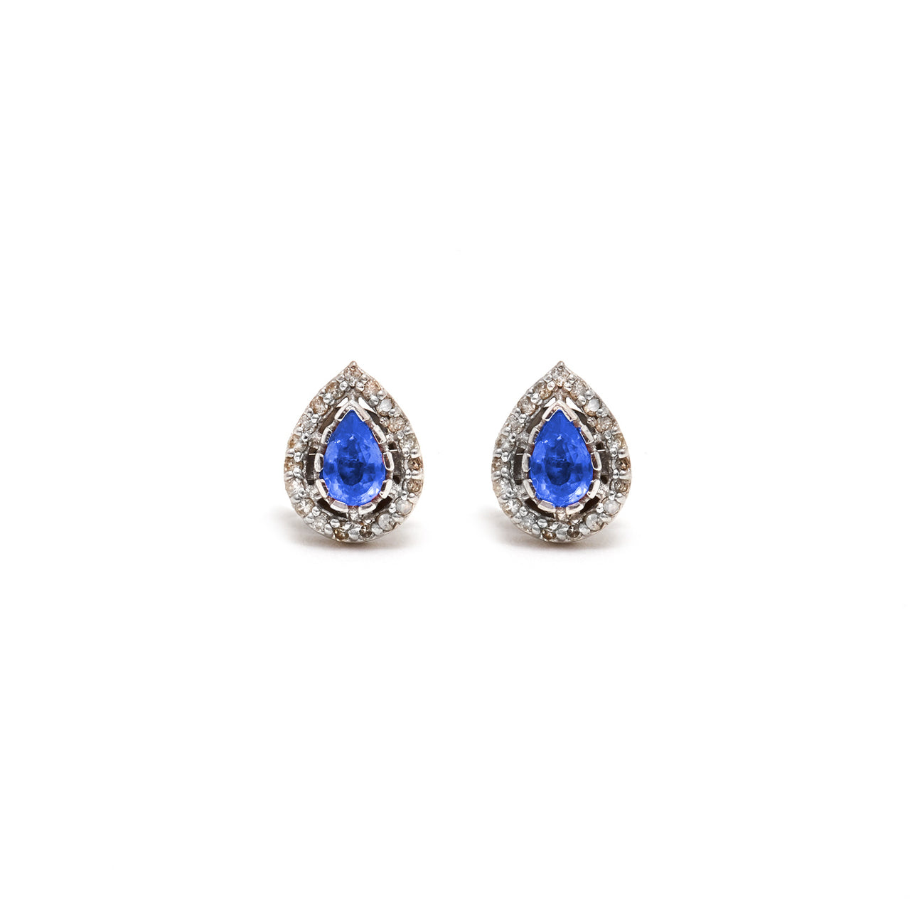 Jaipur Atelier Tanzanite Diamond Tear Drop Earrings
