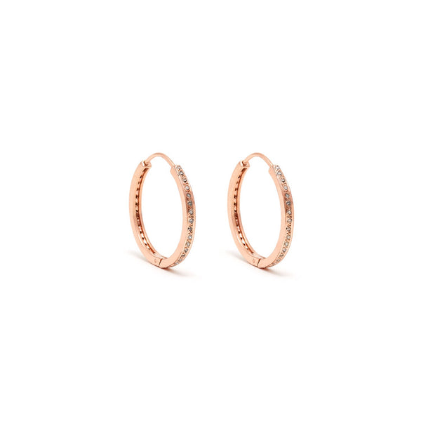Rose Gold Diamond 24 Hoops-Earrings-Jaipur Atelier