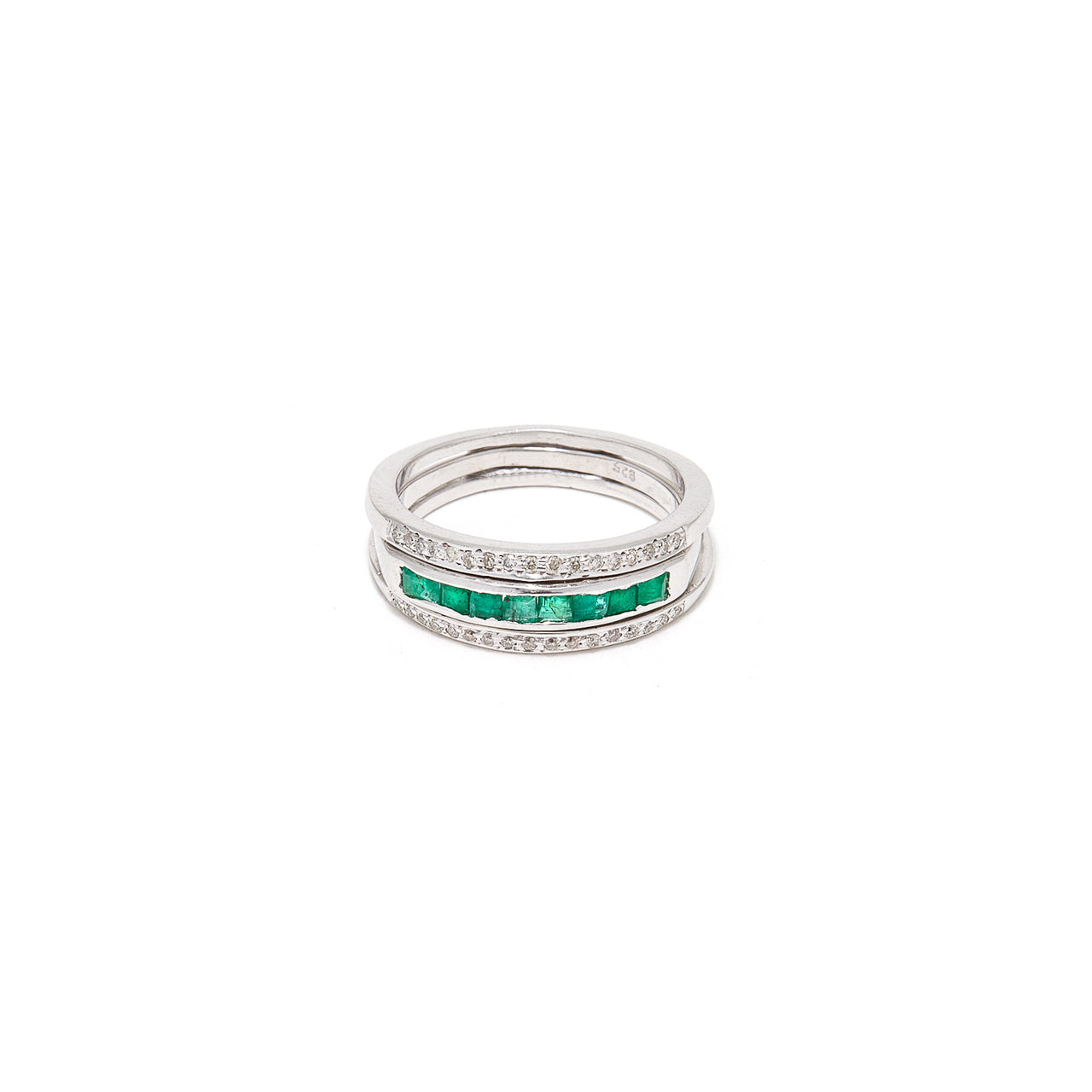 Diamond Gem Baguette Convertible Ring-Ring-Jaipur Atelier