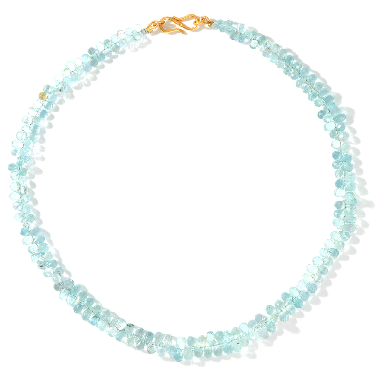 Aquamarine Ice Choker-Necklace-Jaipur Atelier