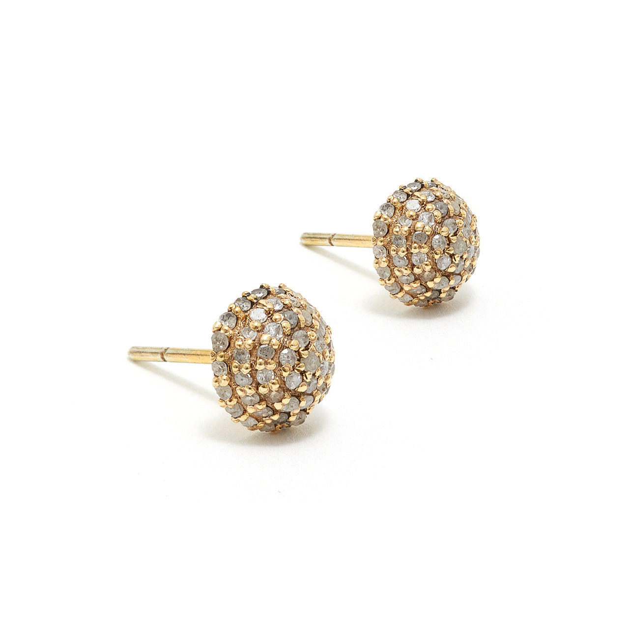 Diamond Bomba Stud Earrings-Earrings-Jaipur Atelier