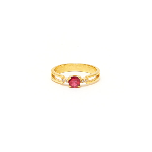 Petit Jai Ruby Diamond Four Ring