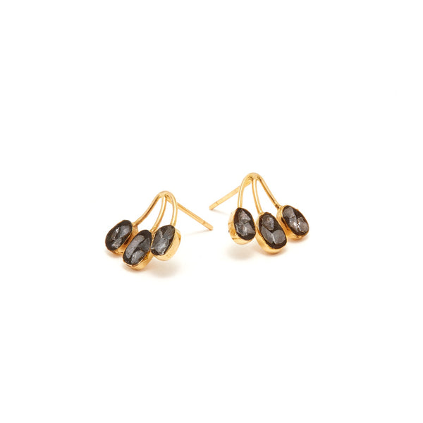 Jaipur Atelier Black Diamond Branch Stud Earrings