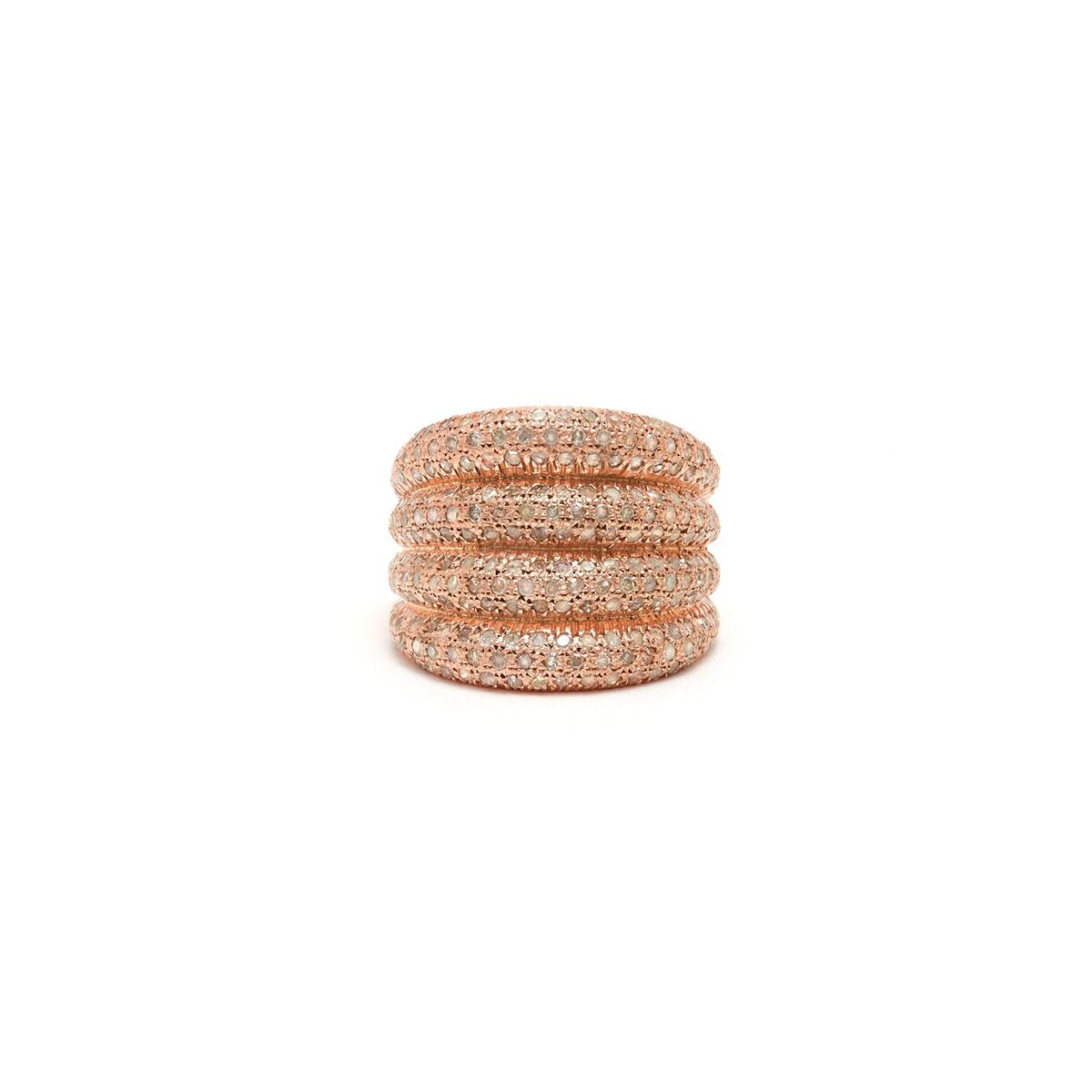 Jaipur Atelier Rose Diamond Four Stack Ring