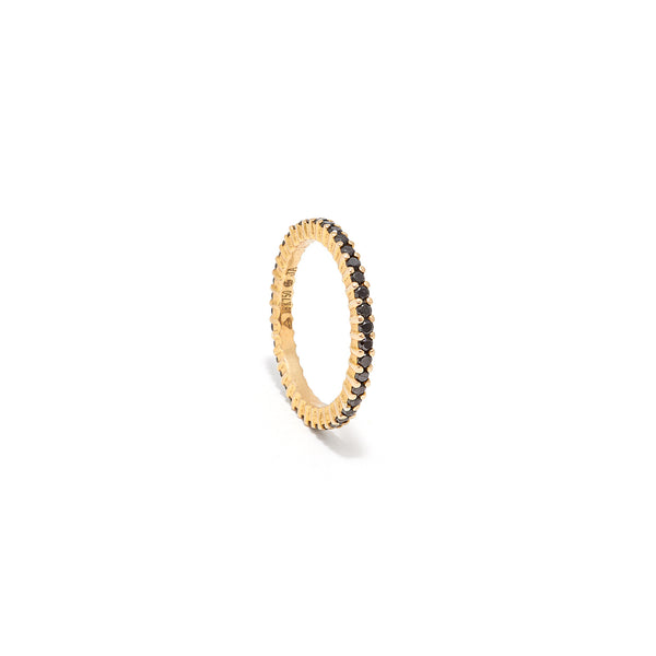 Black Diamond 18k Gold Eternity Band