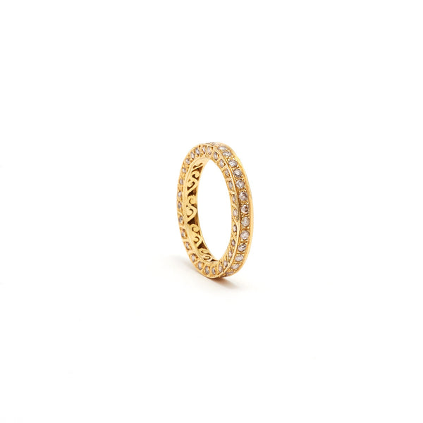 Jaipur Atelier Golden Diamond Eternity Band