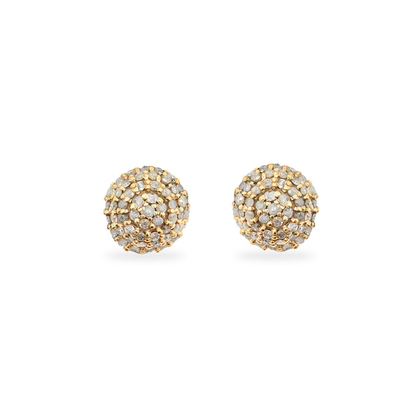 Diamond Bomba Stud Earrings