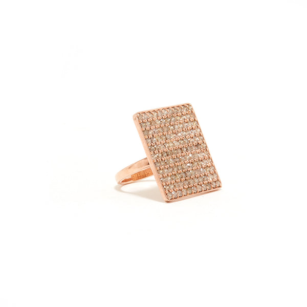 Champagne Rose Diamond Statement Ring