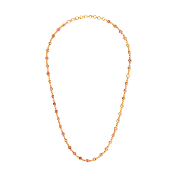 Jaipur Atelier Rose Tourmaline Chain Necklace