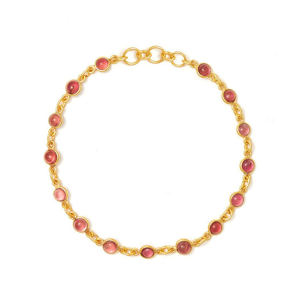 Rose Tourmaline Chain Bracelet