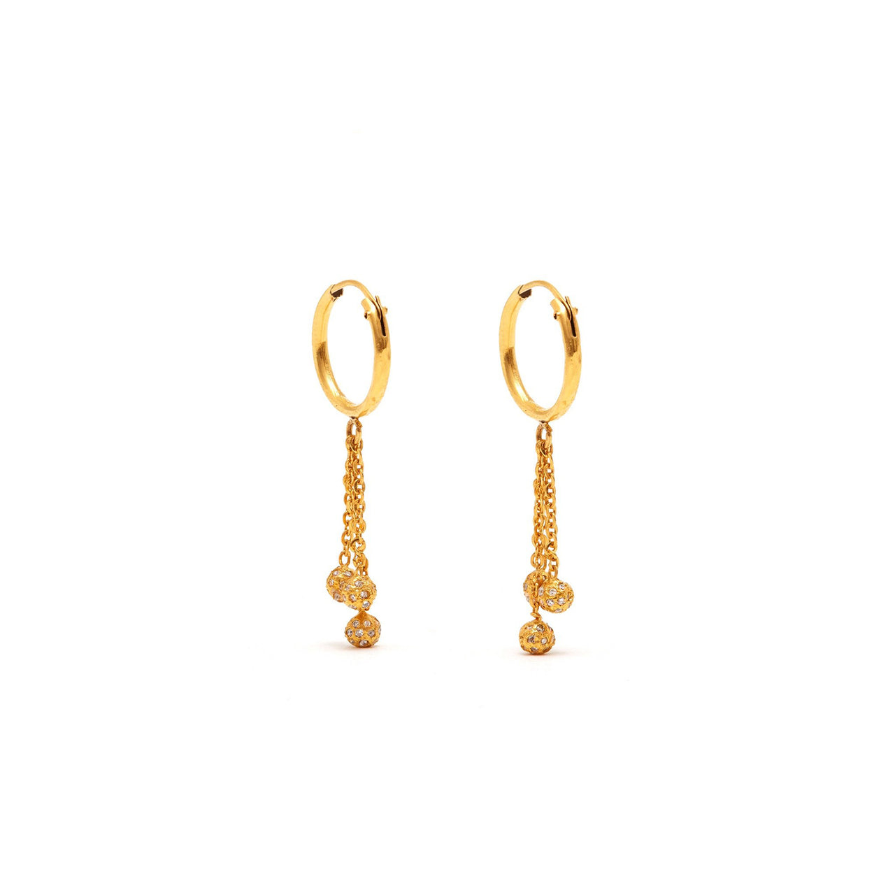Petit Diamond Cascade Bauble Earrings