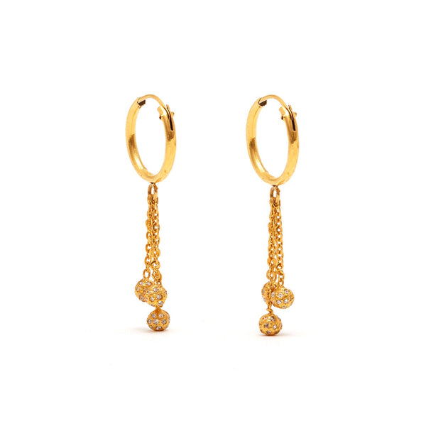 Jaipur Atelier Petit Diamond Cascade Bauble Earrings