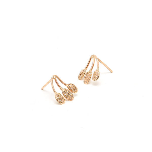 Jaipur Atelier Diamond Parve Branch Stud Earrings