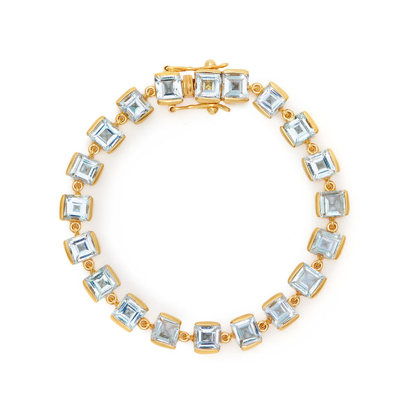 Aquamarine Emerald Cut Bracelet