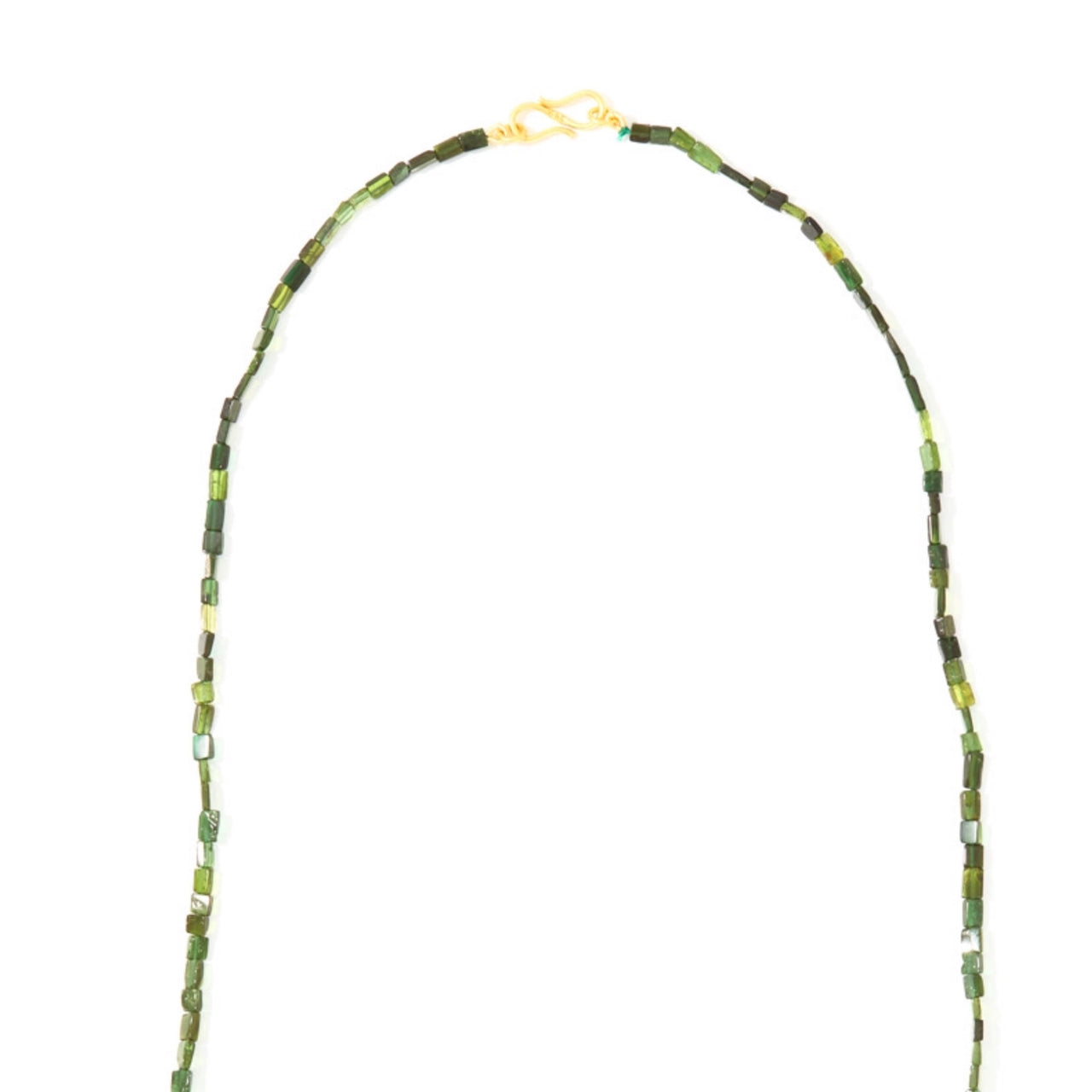 Hunter Green Tourmaline Necklace-Necklace-Jaipur Atelier