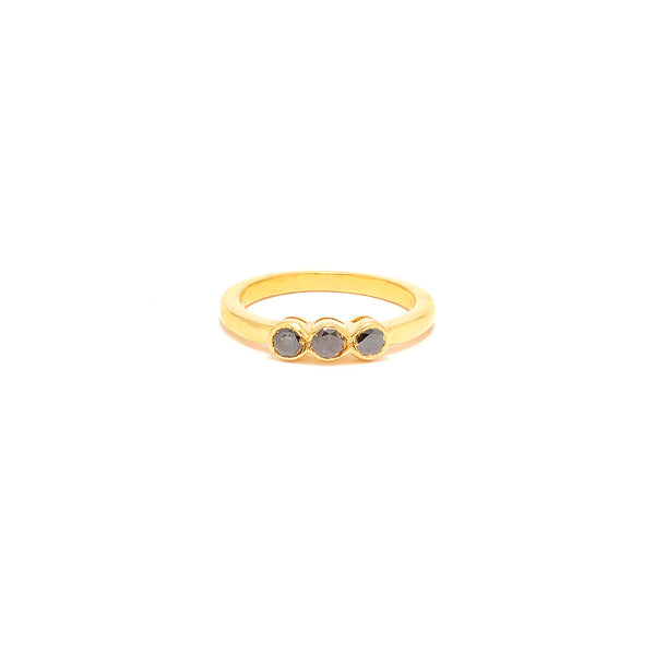 Black Diamond Three Stack Ring-Ring-Jaipur Atelier