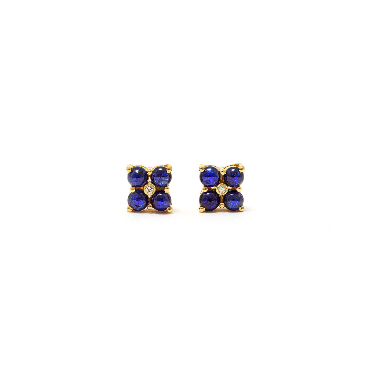 Petit Jai Sapphire Diamond Earrings