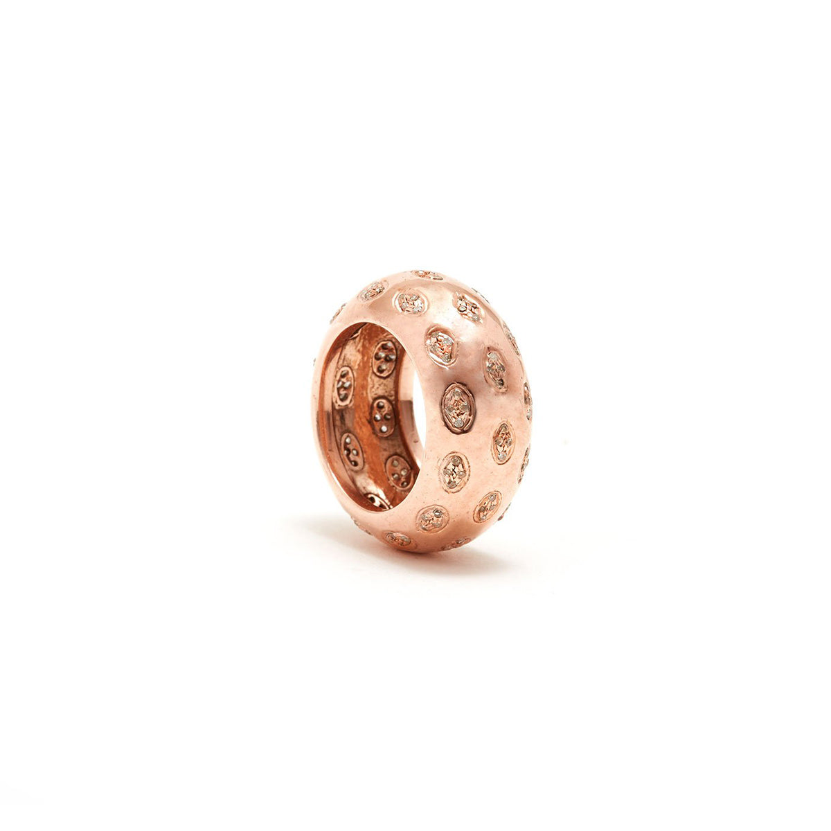 Rose Gold Diamond Leopard Band