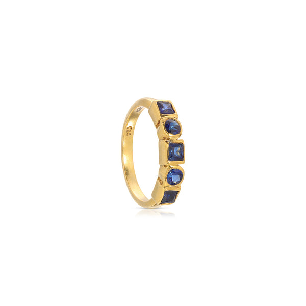 Sapphire Abacus Ring