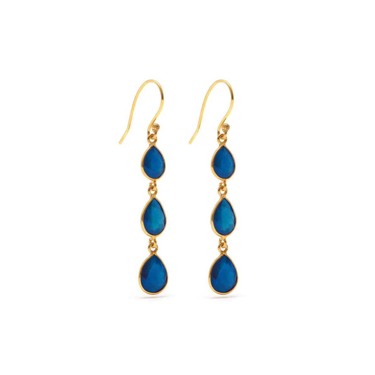 Sapphire Strike Three Earrings