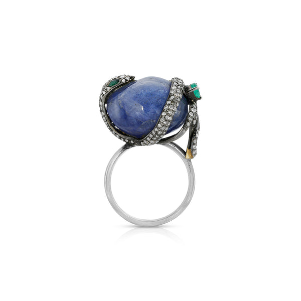 Tanzanite Diamond Serpent Ring