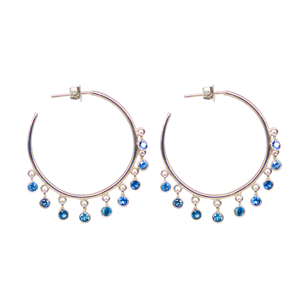 Jerry Sapphire Hoop Earrings