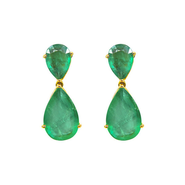 Certified Emerald Chandelier Earrings