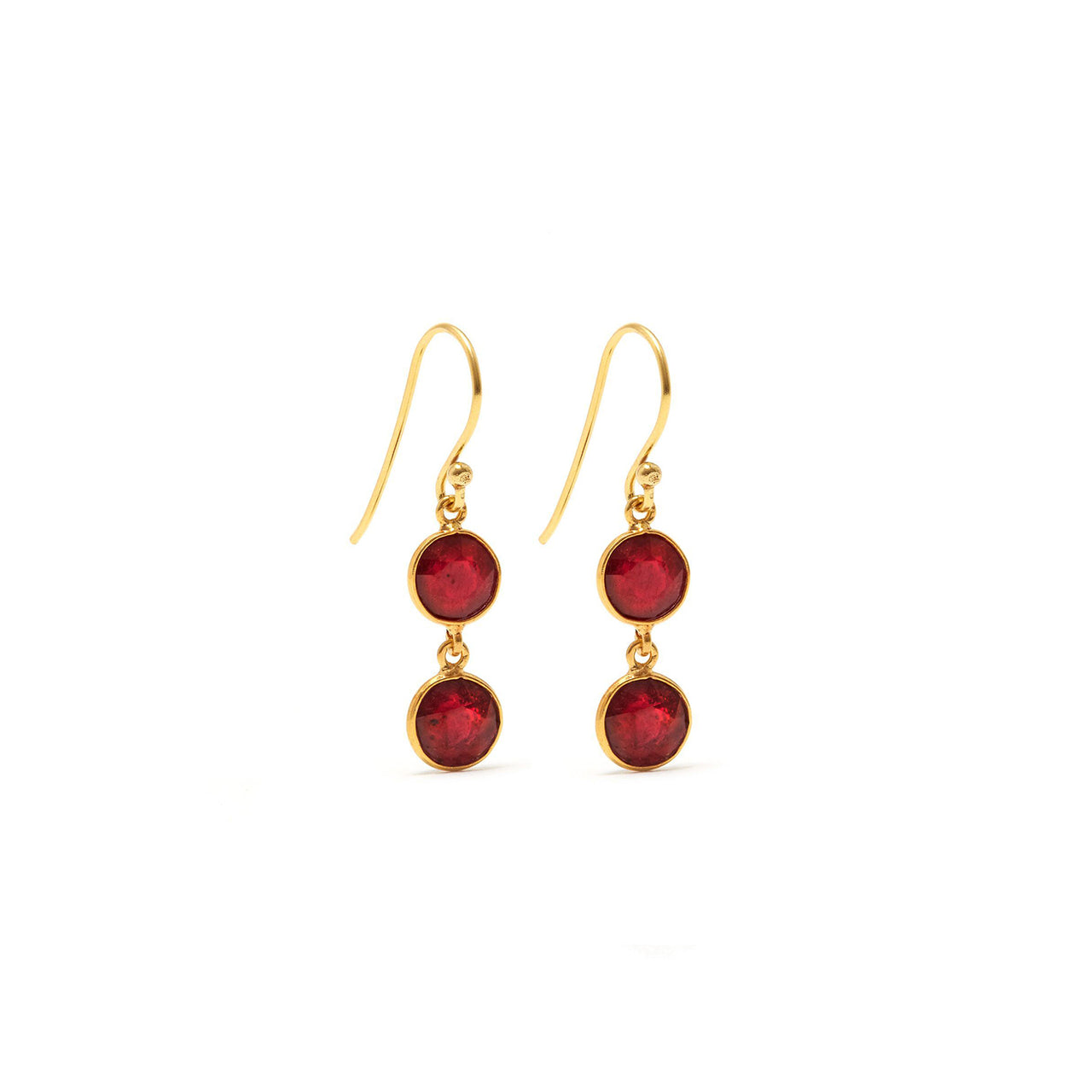 Ruby Rush Two Earrings