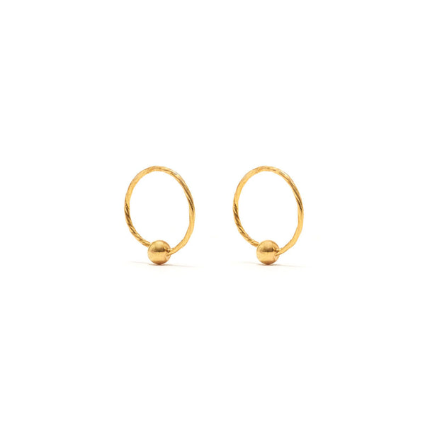 Jaipur Atelier Petite Gold Bauble Sleeper Earrings