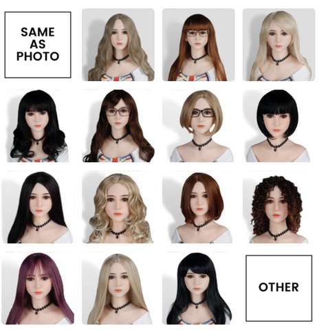 Wig options for sex dolls