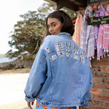 Customisable denim jacket - silver
