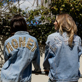 Customisable denim jacket - gold