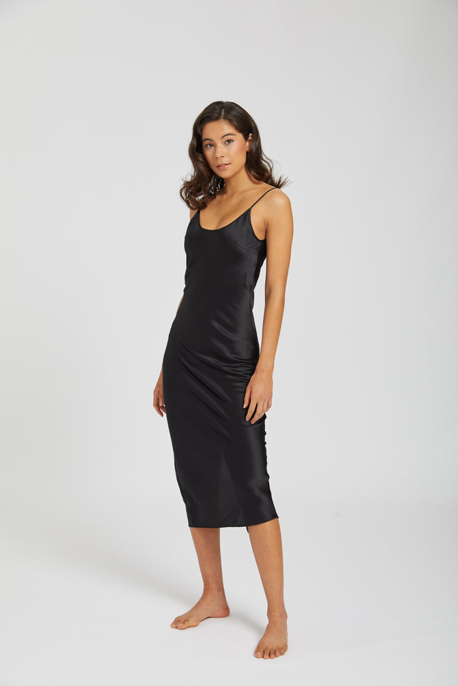 Dahlia silk dress - black