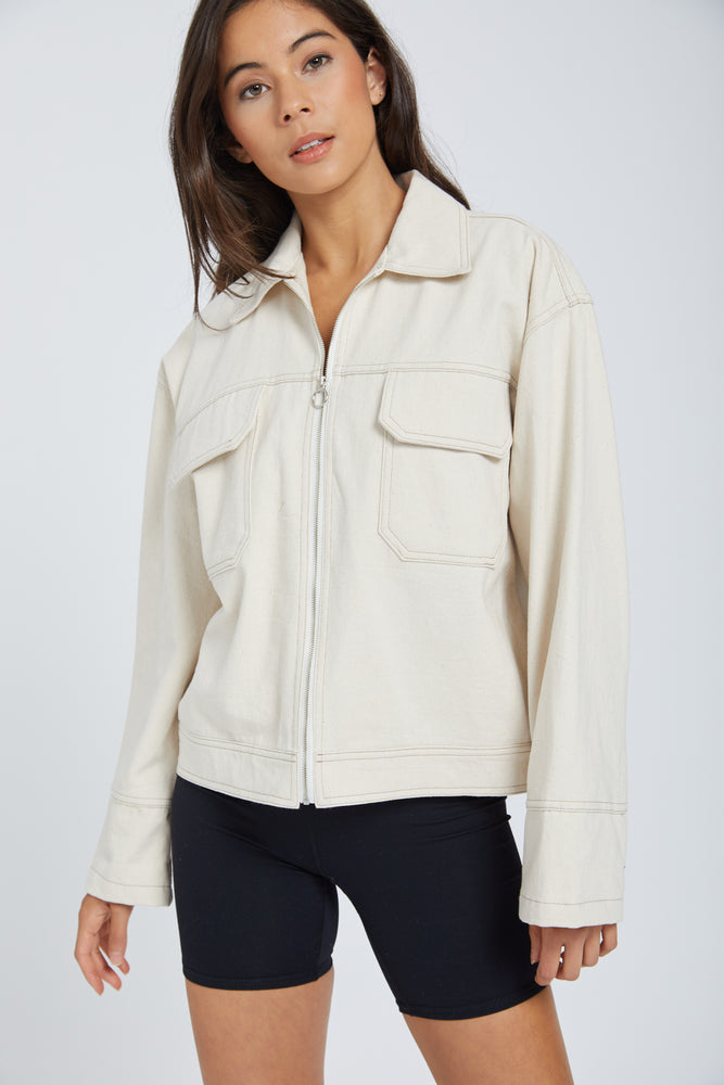 Jacket unique - white