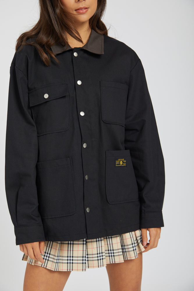 Barber jacket - black