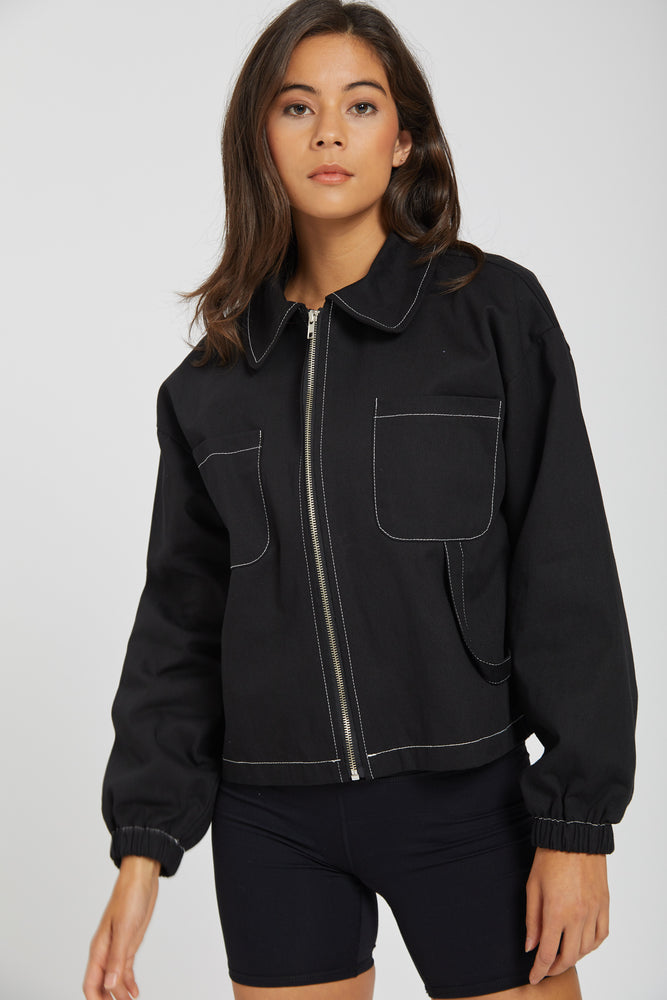 Jacket with closet - black