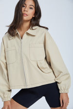 Jacket with closet - beige