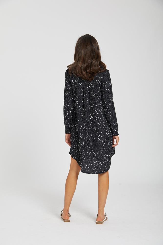 Scattered boyfriend dress